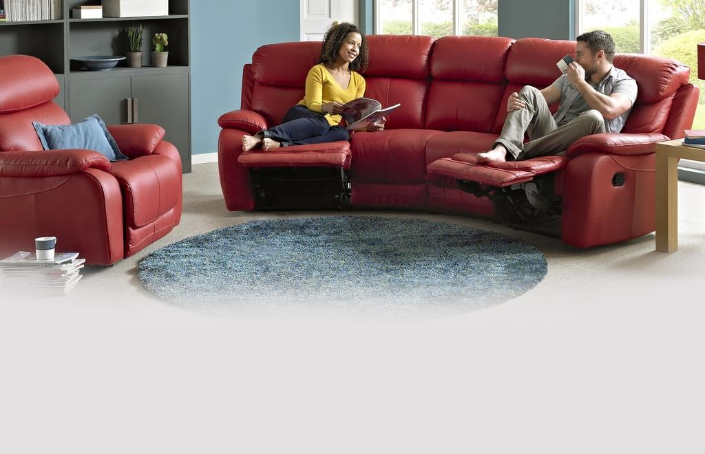 Daytona 4 Seater Curved Manual Double Recliner Peru | DFS Ireland