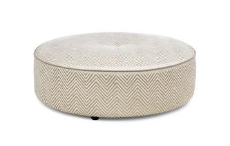 Pattern Large Round Footstool