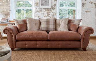 Delamere Pillow Back 4 Seater Sofa Oakland