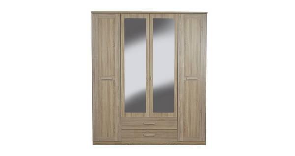 Delano 4 Door Mirrored Combi Hinge Robe