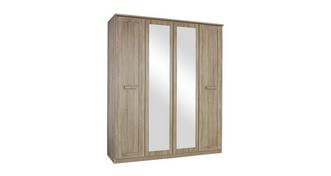 Delano 2  Door Mirrored Hinge Robe