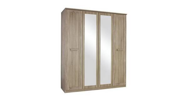 Delano 2  Door Mirrored Hinge Robe