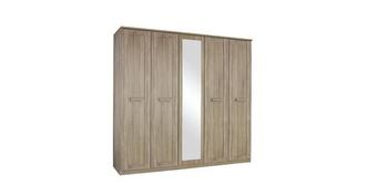 Delano 4 Door Mirrored Hinge Robe