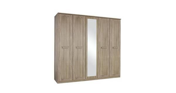 Delano 4 Door Mirrored Hinge Robe