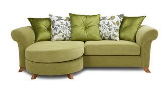 Delight 4 Seater Pillow Back Lounger Sofa