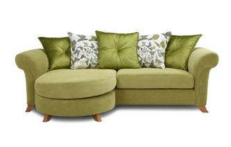 4 Seater Pillow Back Lounger Sofa Escape