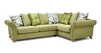 Delight Left Hand Facing 2 Piece Pillow Back Corner Sofa