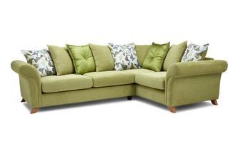 Left Hand Facing 2 Piece Pillow Back Corner Sofa Escape