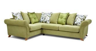 Delight Right Hand Facing 2 Piece Pillow Back Corner Sofa