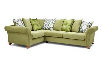 Right Hand Facing 2 Piece Pillow Back Corner Sofa Escape