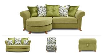 Delight Clearance 4 Seater, Cuddler Sofa, Accent Chair & Footstool