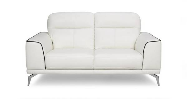 Denver Leather and Leather Look 2 Seater Sofa