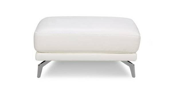 Denver Leather and Leather Look Rectangular Footstool