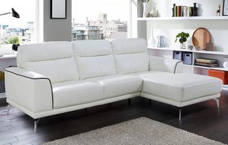 Denver Leder en Lederlook Bank met chaise longue rechts Essential