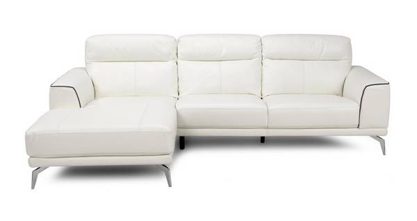 Denver Leder en Lederlook Linkszijdige chaise bank