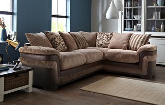 Destiny Left Hand Facing Pillow Back 2 Seater Corner Sofa Eternal