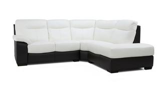 Deville Leather and Leather Look Option A Left Hand Facing Arm 2 Piece Corner Sofa