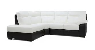 Deville Leather and Leather Look Option E Right Hand Facing Arm 2 Piece Corner Sofa