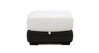 Deville Leather and Leather Look Storage Footstool
