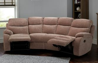 Devon 4 Seater Curved Manual Recliner Devon