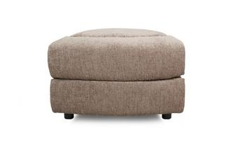 Wedge Shaped Storage Footstool Devon