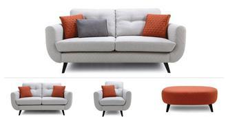 Diaz Clearance Large & Medium Sofa, Chair & Stool