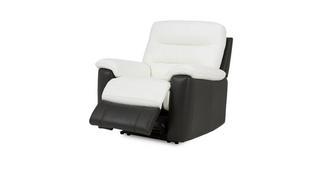 Diego Leder en lederlook Handbediende recliner stoel