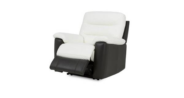Diego Leather and Leather Look Manual Recliner Chair