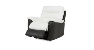 Diego Leder en lederlook Elektrische recliner fauteuil