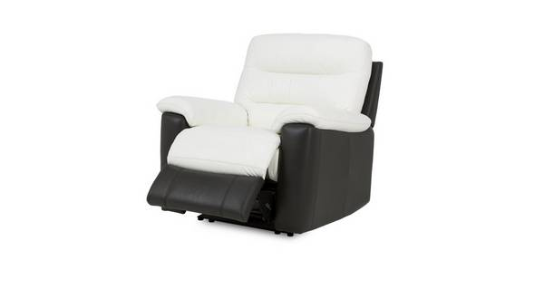 Diego Leather and Leather Look Electric Recliner Chair