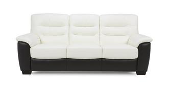 Diego Leather and Leather Look 3 Seater Sofa