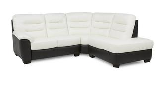 Diego Leather and Leather Look Left Arm Facing 2 Piece Corner Sofa