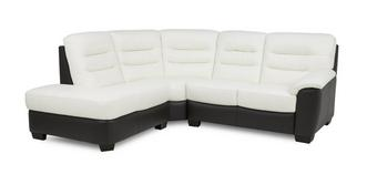 Diego Leather and Leather Look Right Arm Facing 2 Piece Corner Sofa