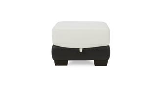 Diego Leather and Leather Look Storage Footstool