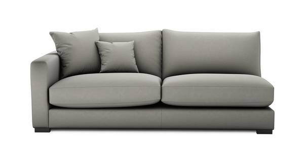 Dillon Soft Plain Left Hand Facing Large Sofa Unit