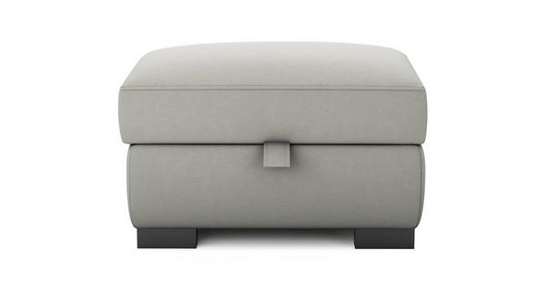 Dillon Soft Plain Large Storage Footstool