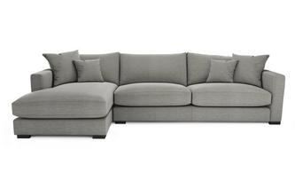 Smart Weave Left Hand Facing Large Chaise End Sofa Dillon Smart Weave