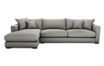 Soft Plain Left Hand Facing Large Chaise End Sofa Dillon Soft Plain