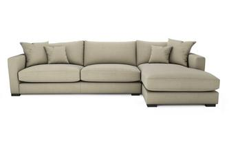 Smart Weave Right Hand Facing Large Chaise End Sofa Dillon Smart Weave