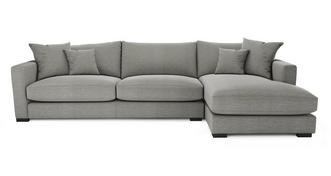 Dillon Smart Weave Grote bank met chaise longue rechts
