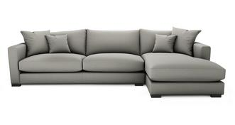 Dillon Soft Plain Grote bank met chaise longue rechts