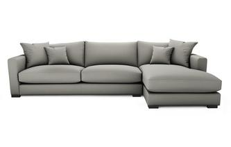 Soft Plain Right Hand Facing Large Chaise End Sofa Dillon Soft Plain
