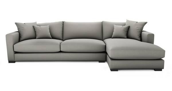 Dillon Soft Plain Right Hand Facing Large Chaise End Sofa