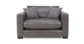 Dillon Leather Snuggler Chair