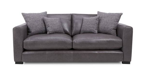Dillon Leather Medium Sofa