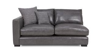 Dillon Leather Left Hand Facing Small Sofa Unit