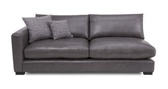 Dillon Leather Left Hand Facing Large Sofa Unit