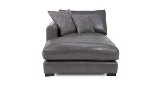 Dillon Leather Left Hand Facing Chaise Lounger Unit