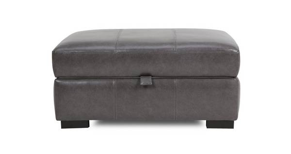 Dillon Leather Large Storage Footstool