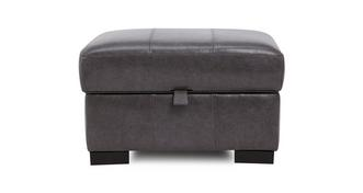 Dillon Leather Storage Footstool
